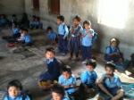 Kids waiting for their bus trip